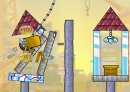Play free game online Building demolisher. Turquoise house - Play free game online