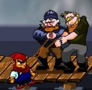 Play free game online Dwarf on wharf. Aquarium - Play free game online
